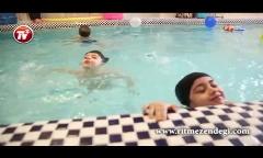 ویدئویی از اولین استخر تهران که مادرها کنار نوزادهایشان شنا یاد می گیرند!/چه دلیلی داره بچه 3 ماهه آموزش شنا ببینه؟