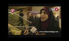 خانم مجری چرا می ترسی بگویی فیلم هومن سیدی بد بود؟/کل کل جالب خبرنگار تی وی پلاس با مژده لواسانی