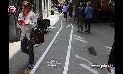 خط کشی خیابان برای معتادان به موبایل