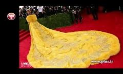 لباس 25 کیلوگرمی ریحانا، خبرساز شد؛ خواننده مشهور زن چشم ها را با ظاهر عجیبش گرد کرد