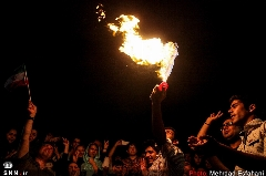 تصاویر صحنه هایی از جشن مردم برای توافق هسته ای که مورد انتقاد قرار گرفت