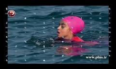 رکوردشکنی دختر ایرانی در دریای خزر