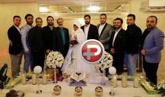 احسان علیخانی پای برادر رئیس جمهور و آقای وزیر را پای سفره عقد ماه عسلی باز کرد/گزارش تصویری