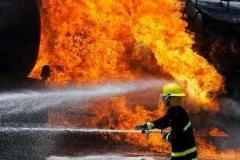 آتشسوزی گسترده در جنوب تهران