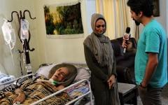 اشک های دختر بازیگر سریال پرده نشین که در بستر بیماری درگذشت/آخرین ویدئو از احمد علامه دهر پدر نیما علامه خواننده پاپ