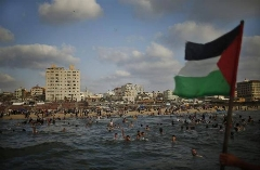 تفریح در سواحل غزه