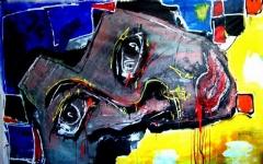 نقاشی های عجیب یک نقاش: رنگ های محسورکننده دور تکه هایی از بدن!/گالری گردی تی وی پلاس