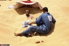 شن درمانی در صحرای سوزان