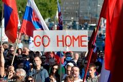 راهپیمایی در اعتراض به ورود آوارگان در لهستان! /گزارش تصویری