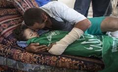 خاکسپاری مادر باردار فلسطینی /عکس