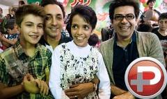 فرزاد حسنی، امیرحسین رستمی و سیاوش خیرابی در میان کودکان معلول کهریزک/کودکانی که اشک ستاره ها را هم درآوردند
