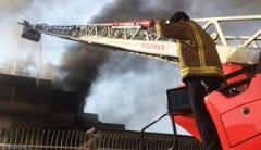 آتش سوزی در وزارت کشور /فیلم