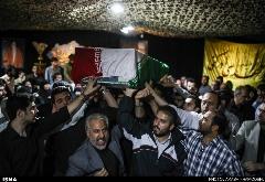 گزارش تصویری وداع با پیکر شهید همدانی