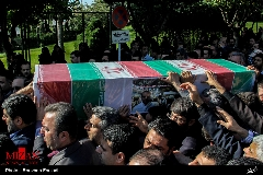 گزارش تصویری تشییع پیکر سید حمیدرضا حسینی خبرنگار شبکه خبر