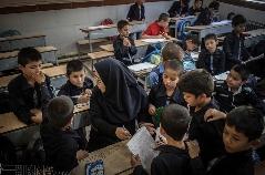گزارش تصویری از مدرسه افغانها در تهران