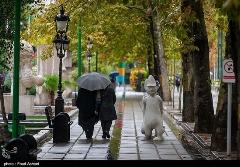 گزارش تصویری از بارش باران پاییزی در تهران