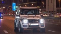 رانندگی حاکم دبی با بنز شخصی اش به همراه رئیس حکومت مصر/عکس