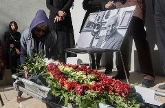 مراسم تشییع هادی مشکات /گزارش تصویری