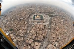 کربلا و پیاده روی اربعین حسینی از آسمان/شور حسینی