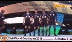 اهدای جوایز به علیرضا فغانی و تیم داوری فینال باشگاه های جهان