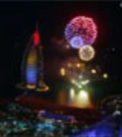 آتش بازی منحصر به فرد و دیدنی در دبی