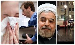 روحانی، کاندیدای مرد سال 2015/انفجار در مسکو/افزایش قربانیان آنفولانزا در ایران/پایان دفاعیات بابک زنجانی
