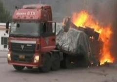 شجاعت راننده کامیون جان چند نفر از مرگ را نجات داد