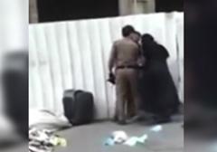 ضرب و شتم یک زن توسط پلیس سعودی
