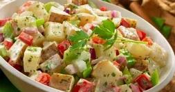 سالاد سیب زمینی ، سریع ترین غذای ممکن به وقت گرسنگی!/ آشپزی سریع با سرآشپز تی وی پلاس