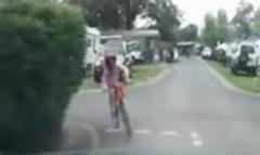 حادثه خفن/دوچرخه سواری که در حین خوشحالی به فنا رفت