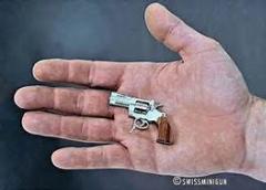 شلیک با کوچک ترین اسلحه دنیا/ دیدنی