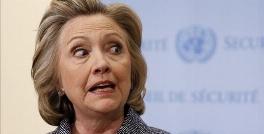 واق واق کردن هیلاری کلینتون در سخنرانی انتخاباتی جلوی دوربین!