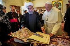 هدیه نفیسی که روحانی در سفر به واتیکان به پاپ داد