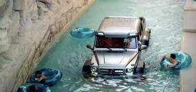 هیولای بنز در پارک آبی دبی !!!ماشینی که دیوار راست را بالا میرود