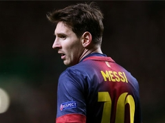 ضایع شدن مسی هنگام توپ گیری از بازیکنان بارسا