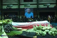 مراسم تشییع پیکر رضا ابراهیمی مربی والیبال پیکان