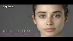 یک زن عکس خود را برای فتوشاپ کاران حرفه ای در کشور های مختلف فرستاده تا او را آرایش و از نظر کشور خودشان زیبا کنند