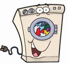 از داخل یک  ماشین لباسشویی در حال کار .بیرون چگونه دیده میشود؟