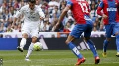 خلاصه بازی لوانته 1-3 رئال مادرید/گلزنی رونالدو