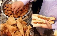 چاقالوهای معروف، اولین فلافلی تهران را کشف کردند؛ راز صف کشیدن زن و مرد در کوچه مروی بازار بزرگ چیست؟/این ویدیو دست سرآشپز این فلافلی را رو می کند