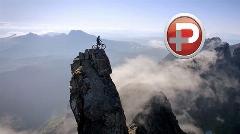 تصاویری باورنکردنی از مردی که با دوچرخه قله کوه را فتح کرد+ویدیو