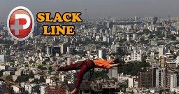 بازی با مرگ مجری تلویزیون ایران روی پل هوایی تهران + ویدیو