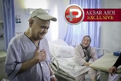 اولین ویدیو از شرایط جسمانی اکبر عبدی بعد از جراحی پیوند کلیه در بیمارستان/اختصاصی تی وی پلاس