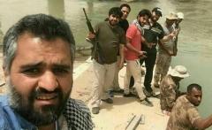 لحظه شلیک توپ علیه داعش توسط بازیگر ایرانی + فیلم