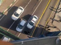 سقوط وحشتناک موتورسوار از روی پل + فیلم