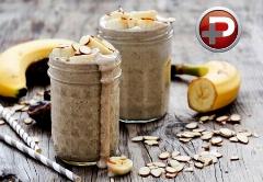 نوشیدنی خوشمزه ی پرطرفدار؛ آموزش تهیه اسموتی موز و کره بادام زمینی خیلی سریع!