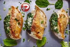 این غذا با روح و روانتان بازی می کند؛ آموزش تهیه مرغ سوخاری شکم پر با اسفناج؛ ساده و خوشمزه