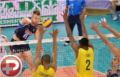 ستاره فوتبال دنیا چشم والیبالیست ها را روشن کرد؛ نیمار، مهمان اختصاصی مسابقه فینال والیبال المپیک، برزیل - ایتالیا