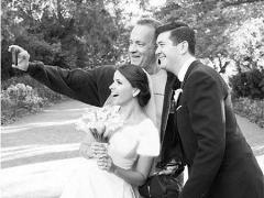 حضور غافلگیرانه ستاره سینما در جشن عروسی یک زوج