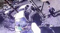 فیلم لحظه تصادف غیرمنتظره در پاسداران تهران